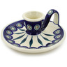 5-inch Stoneware Candle Holder - Polmedia Polish Pottery H0333E
