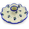 5-inch Stoneware Candle Holder - Polmedia Polish Pottery H0382E