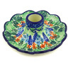 5-inch Stoneware Candle Holder - Polmedia Polish Pottery H3213G