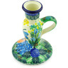 5-inch Stoneware Candle Holder - Polmedia Polish Pottery H3238G