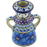5-inch Stoneware Candle Holder - Polmedia Polish Pottery H4079G