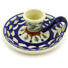 5-inch Stoneware Candle Holder - Polmedia Polish Pottery H5332E