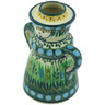 5-inch Stoneware Candle Holder - Polmedia Polish Pottery H6446G