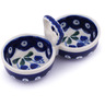 5-inch Stoneware Condiment Server - Polmedia Polish Pottery H0601G