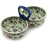 5-inch Stoneware Condiment Server - Polmedia Polish Pottery H9857B