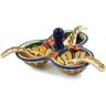5-inch Stoneware Condiment Server with Spoons - Polmedia Polish Pottery H4919I