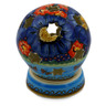 5-inch Stoneware Globe Shaped Candle Holder - Polmedia Polish Pottery H0902E