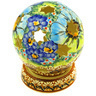 5-inch Stoneware Globe Shaped Candle Holder - Polmedia Polish Pottery H0908E