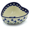 5-inch Stoneware Heart Shaped Bowl - Polmedia Polish Pottery H7964H