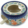 5-inch Stoneware Heater with Candle Holder - Polmedia Polish Pottery H3715C