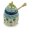 5-inch Stoneware Honey Jar with Dipper - Polmedia Polish Pottery H2856I