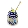 5-inch Stoneware Honey Jar with Dipper - Polmedia Polish Pottery H6995I
