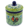 5-inch Stoneware Jar with Lid - Polmedia Polish Pottery H0032G