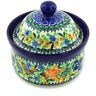 5-inch Stoneware Jar with Lid - Polmedia Polish Pottery H0033G