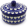 5-inch Stoneware Jar with Lid - Polmedia Polish Pottery H0211F
