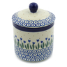 5-inch Stoneware Jar with Lid - Polmedia Polish Pottery H0620J