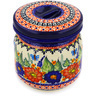 5-inch Stoneware Jar with Lid - Polmedia Polish Pottery H1179E