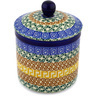 5-inch Stoneware Jar with Lid - Polmedia Polish Pottery H1503D