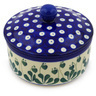 5-inch Stoneware Jar with Lid - Polmedia Polish Pottery H3074E