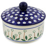 5-inch Stoneware Jar with Lid - Polmedia Polish Pottery H3429B