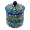 5-inch Stoneware Jar with Lid - Polmedia Polish Pottery H3707G
