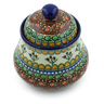 5-inch Stoneware Jar with Lid - Polmedia Polish Pottery H4027A