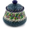 5-inch Stoneware Jar with Lid - Polmedia Polish Pottery H4034F