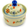 5-inch Stoneware Jar with Lid - Polmedia Polish Pottery H4161D