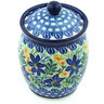 5-inch Stoneware Jar with Lid - Polmedia Polish Pottery H4282H