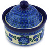 5-inch Stoneware Jar with Lid - Polmedia Polish Pottery H4497G