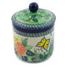 5-inch Stoneware Jar with Lid - Polmedia Polish Pottery H4523G