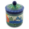 5-inch Stoneware Jar with Lid - Polmedia Polish Pottery H4783G