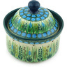 5-inch Stoneware Jar with Lid - Polmedia Polish Pottery H4807G