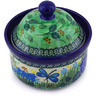 5-inch Stoneware Jar with Lid - Polmedia Polish Pottery H5010G
