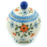 5-inch Stoneware Jar with Lid - Polmedia Polish Pottery H5284H