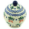5-inch Stoneware Jar with Lid - Polmedia Polish Pottery H5362H