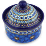 5-inch Stoneware Jar with Lid - Polmedia Polish Pottery H6140G