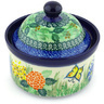 5-inch Stoneware Jar with Lid - Polmedia Polish Pottery H6492G