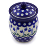 5-inch Stoneware Jar with Lid - Polmedia Polish Pottery H7259I