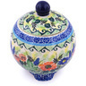 5-inch Stoneware Jar with Lid - Polmedia Polish Pottery H7376G