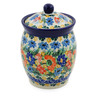 5-inch Stoneware Jar with Lid - Polmedia Polish Pottery H7514J