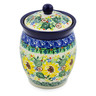 5-inch Stoneware Jar with Lid - Polmedia Polish Pottery H7517J