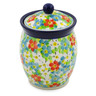 5-inch Stoneware Jar with Lid - Polmedia Polish Pottery H7523J