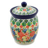 5-inch Stoneware Jar with Lid - Polmedia Polish Pottery H7530J