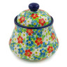 5-inch Stoneware Jar with Lid - Polmedia Polish Pottery H7661J
