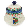 5-inch Stoneware Jar with Lid - Polmedia Polish Pottery H7664J