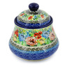 5-inch Stoneware Jar with Lid - Polmedia Polish Pottery H7666J
