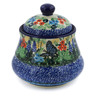 5-inch Stoneware Jar with Lid - Polmedia Polish Pottery H7667J