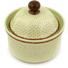 5-inch Stoneware Jar with Lid - Polmedia Polish Pottery H7903E