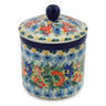 5-inch Stoneware Jar with Lid - Polmedia Polish Pottery H8171J